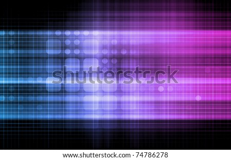 Technology Network with a Data Grid System - stock photo