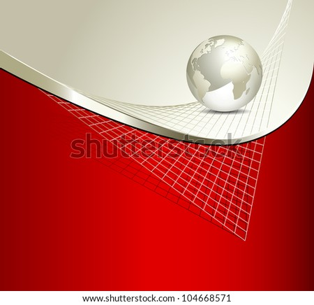 Technology template - abstract business background - stock photo