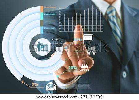 Technology. Touchscreen interface - stock photo