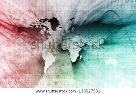 Technology Visual Concept of a Corporate Business - stock photo