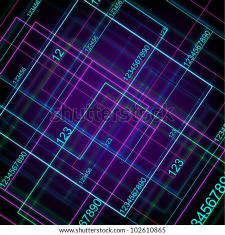 Technology With Digital Numbers. Eps Version Also Available In Gallery. - stock photo