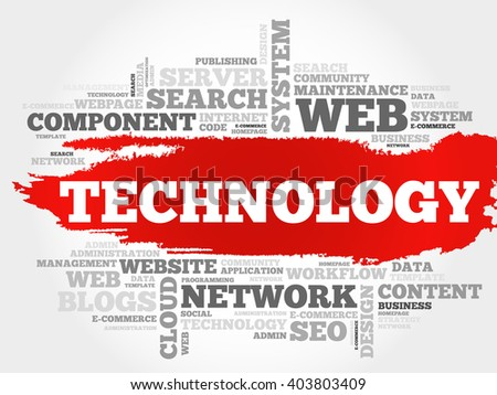 TECHNOLOGY word cloud, business concept - stock photo