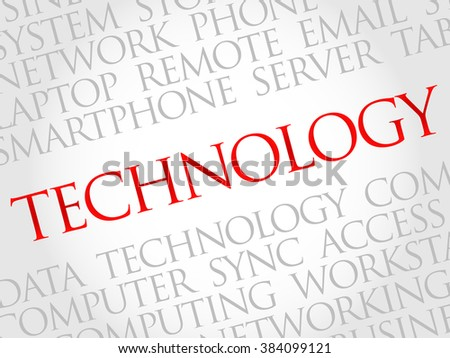 Technology words cloud, business concept - stock photo