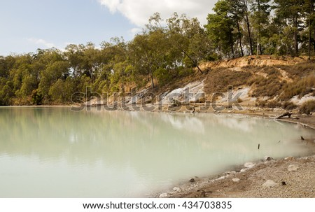 Tecuamburro Volcano - volcanic crater lake in Guatemala - stock photo