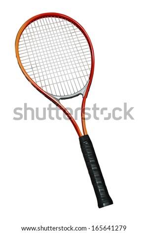 ted tennis racquet  - stock photo