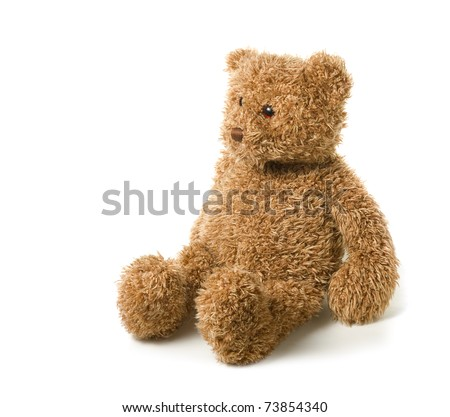 Teddy-bear isolated on a white background - stock photo