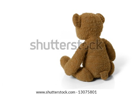 Teddy Bear looking Away - stock photo
