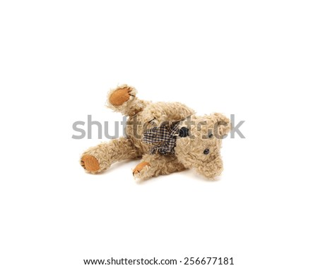 teddy bear lost - stock photo