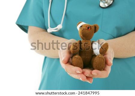 Teddy Bear Patient - stock photo