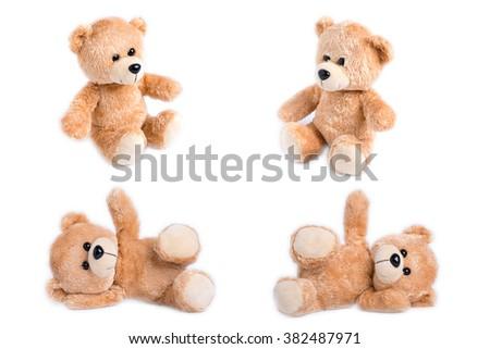 teddy bear set - stock photo