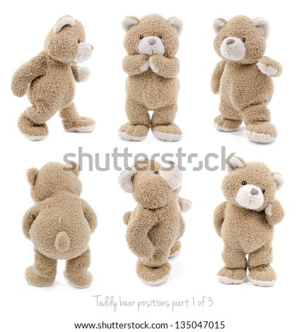 teddy bear set (1 of 3) - stock photo