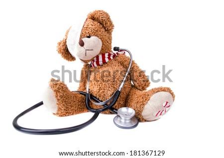 Teddy Bear with Bandage / Teddy Bear - stock photo
