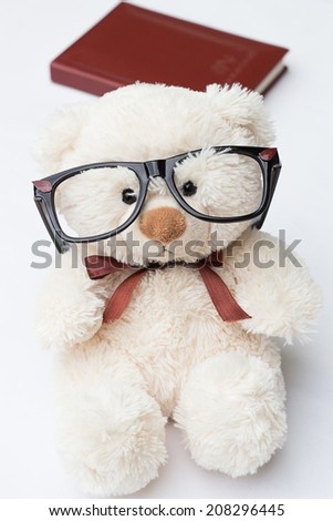 Teddy Bear with Glasses - stock photo