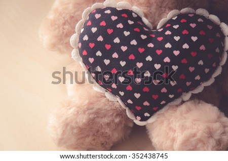 teddy Bear with Heart ,concept valentine