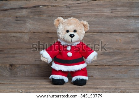 Teddy bears wearing a Christmas clothes, Christmas clothes