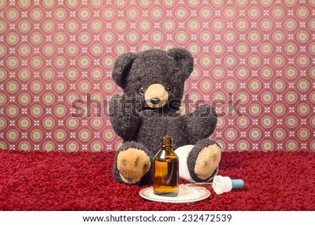 teddy get well - stock photo