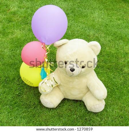 Teddy's Birthday - stock photo