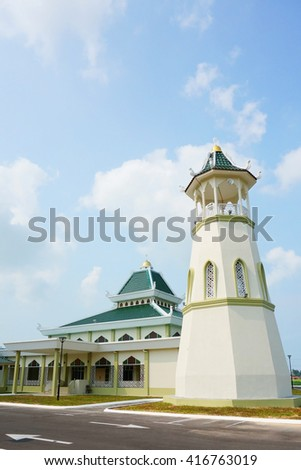 Tedong Mosque in Jasin, Melaka, Malaysia - stock photo
