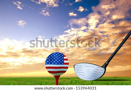Tee Off golf ball Monaco - stock photo