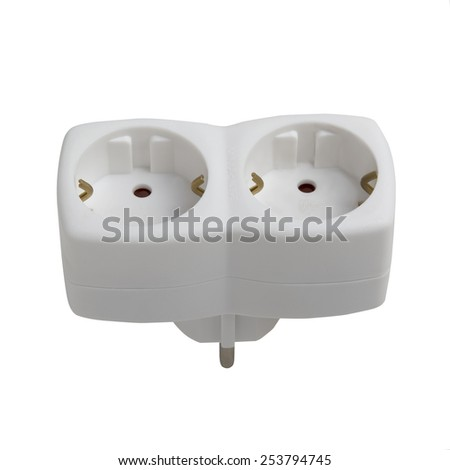 tee outlet isolated on white background - stock photo