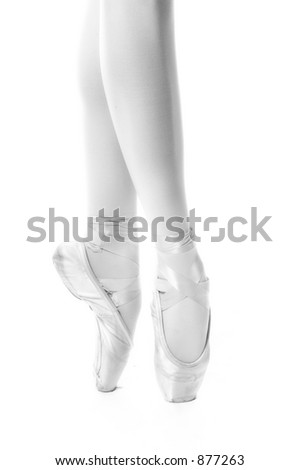 Teen ballerina in the studio - stock photo