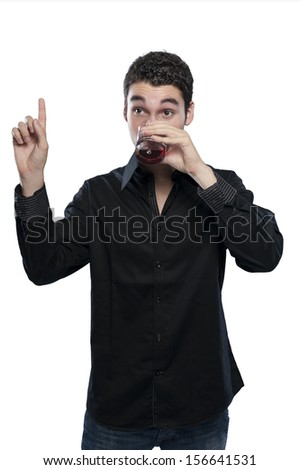 teen boy drinking a cocktail