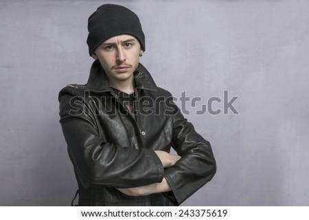 Teen boy problems - stock photo