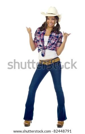 Teen Cowgirl - stock photo