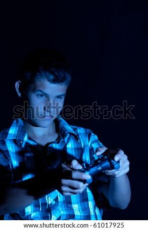 Teen gamer - stock photo