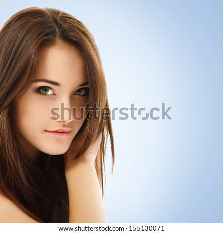 teen girl beautiful cheerful enjoying isolated on white background