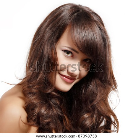 teen girl beautiful cheerful enjoying isolated on white background - stock photo