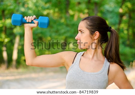Teen girl determined to lose weight - stock photo