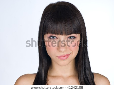 teen girl making facial expression