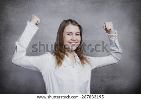 Teen girl smiling  - stock photo