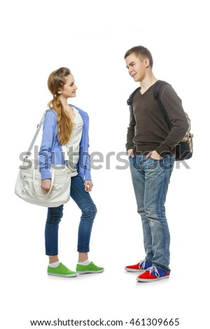 What are common characteristics of a teenage boy and girl?