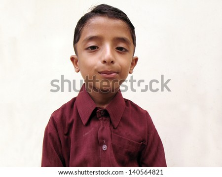 Teenage boy making pose for camera