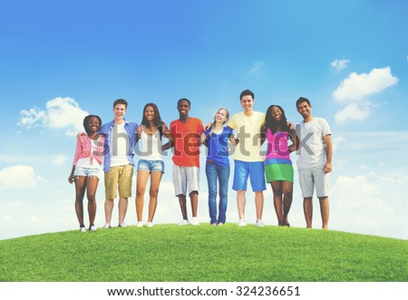 Teenage Celebration Friendship Togetherness Unity Concept