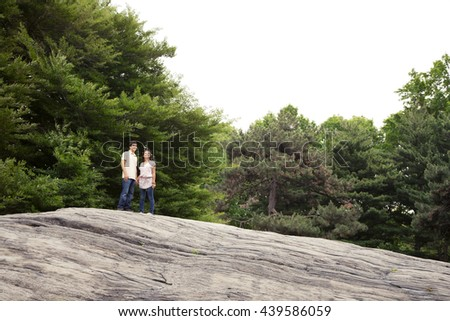 Teenage friends spending time together - stock photo