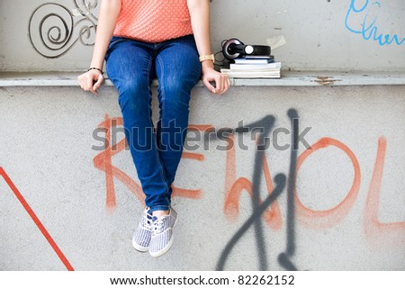 Woman Suffers Diarrhea Sitting Restroom Holds Stock Photo