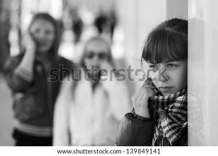 Teenage girl in depression - stock photo