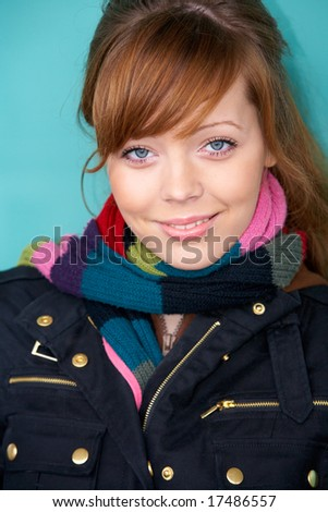 Teenage girl portrait, exterior in urban location