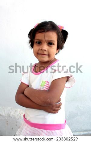 Teenage girl with style - stock photo