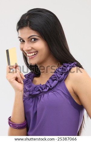 teenage girl with violet  color designed sleeveless dress