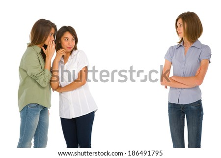 teenage girls gossiping