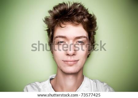 teenager closeup face - stock photo