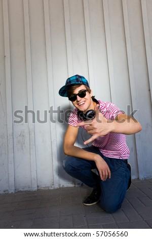 Teenager gesturing - stock photo