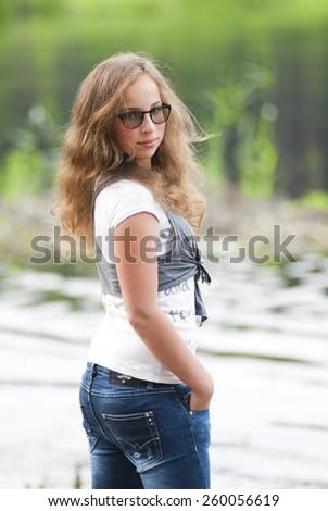 Teenager girl - stock photo