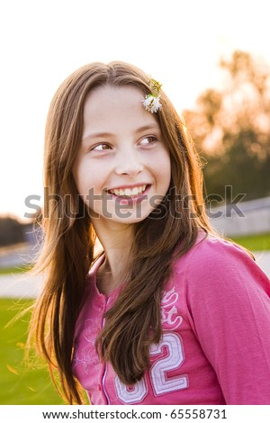 Teenager girl - stock photo