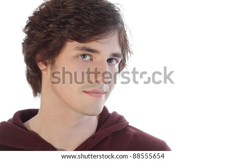 Teenager looking seriously - stock photo