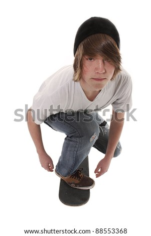 Teenager Male posing cool - stock photo